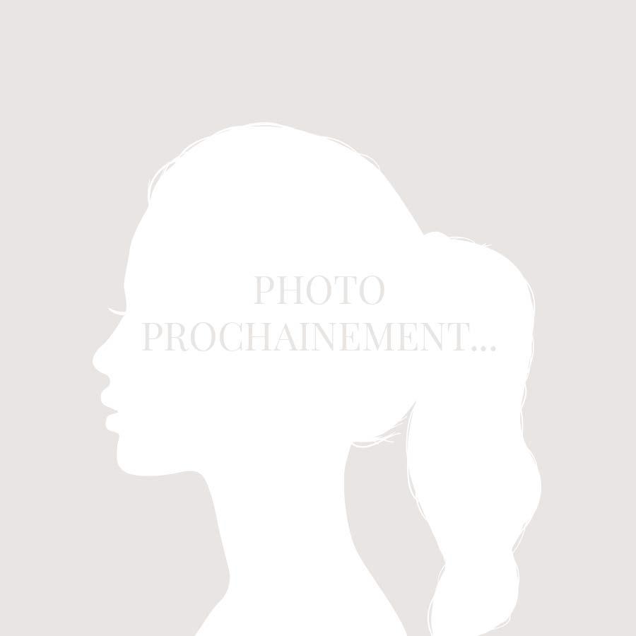 BY GARANCE Bracelet Coulissant Gris Médaille Fleur Email Blanc